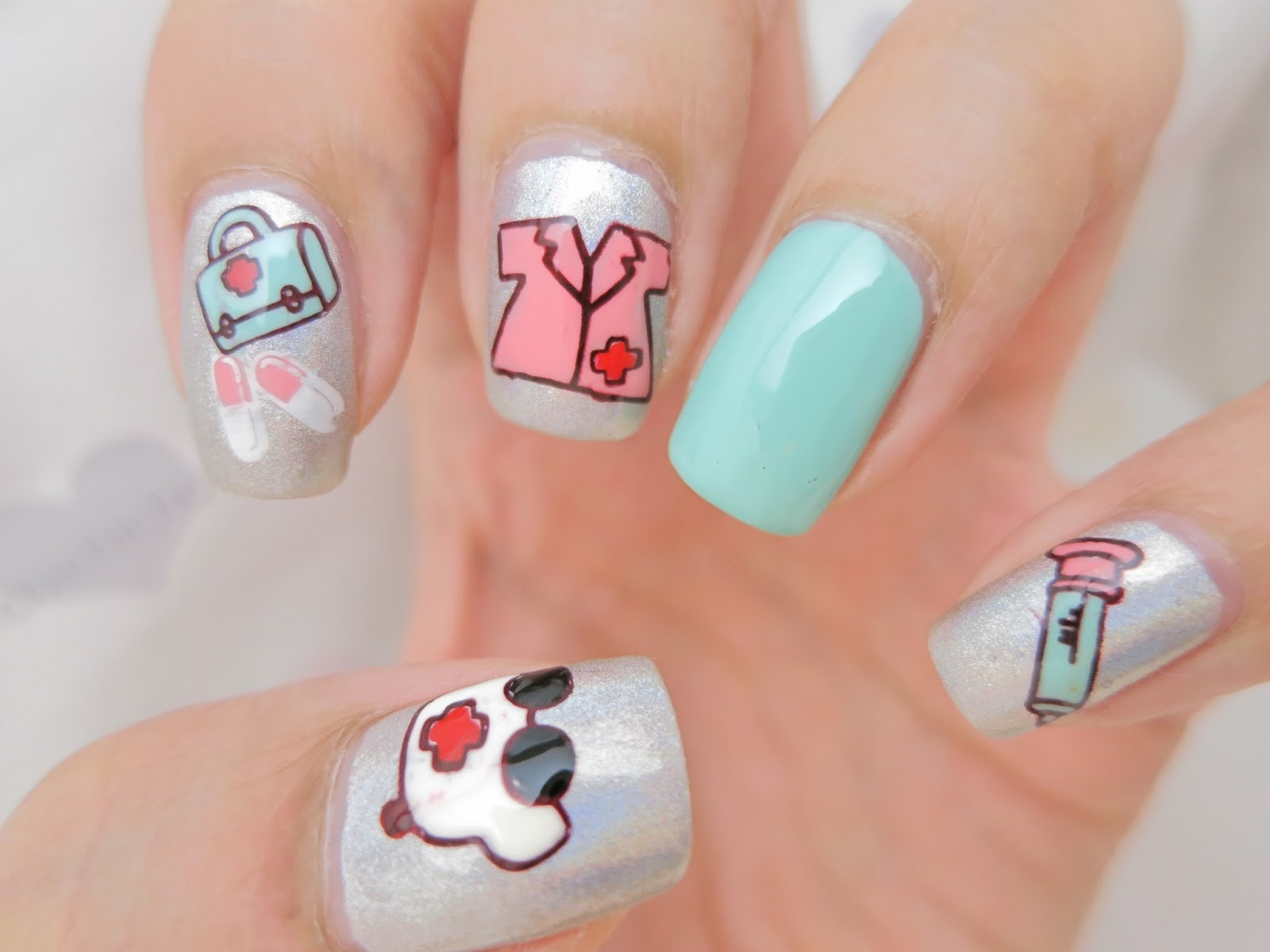 Medical Doctor Stamping Image Plate Nail Art Qgirl 037 Born