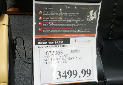 Deal for Human Touch AcuTouch 6.0 Massage Chair at Costco