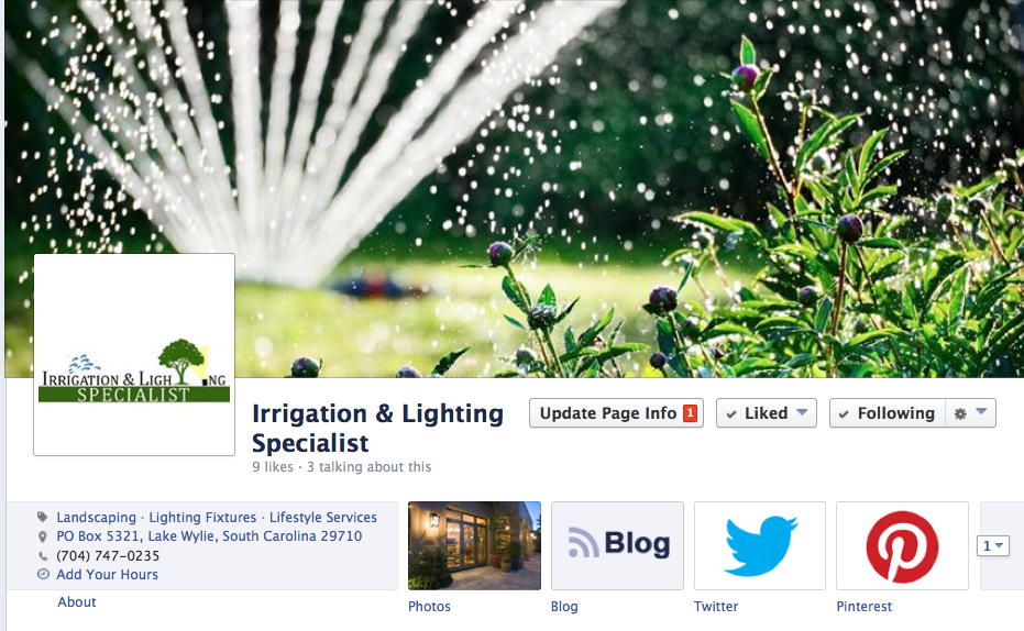 Irrigation and Lighting Specialist on Facebook - Charlotte irrigation companies