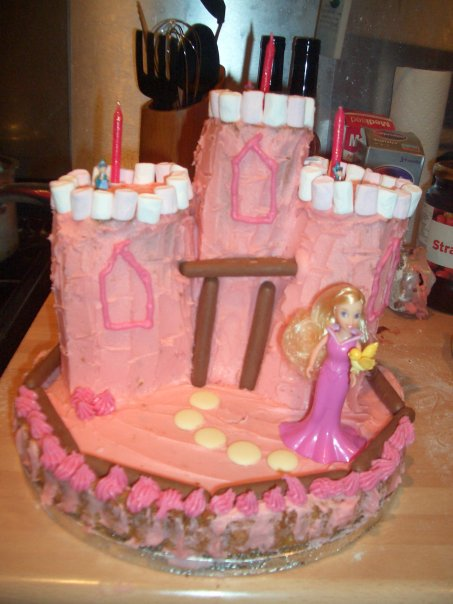 3rd birthday cake, sleeping beauty cake, princess cake