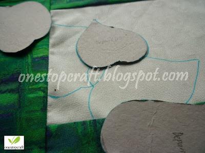 menggambar pola keseluruhan pd kain dasar