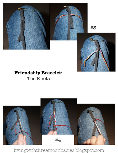 Friendship Bracelet Tutorial by livingwiththreemoonbabies.blogspot.com
