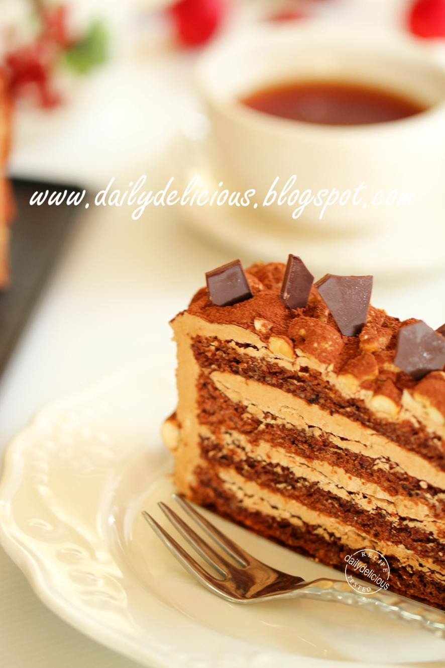 Filipino Chocolate Cake With Custard Filling