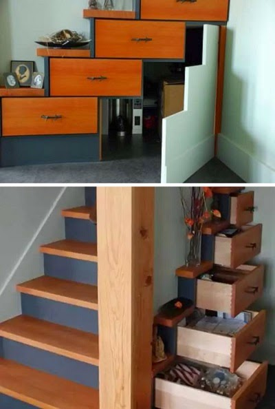 space saver stairs - cupboard design