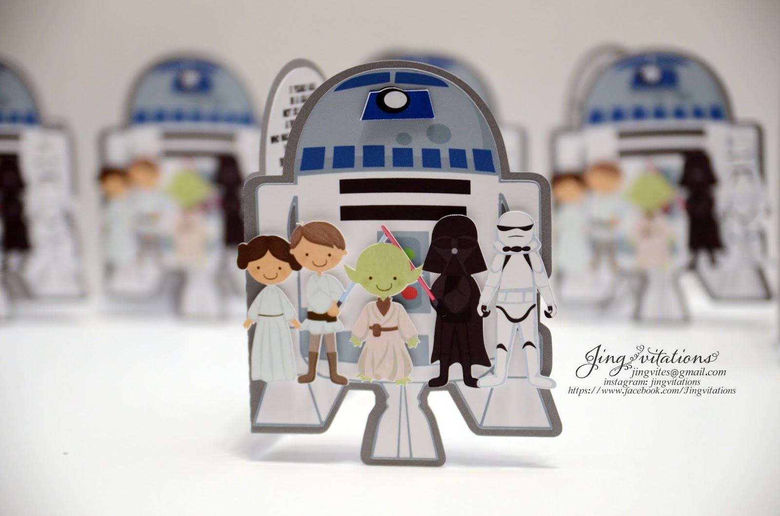 Handmade Invitations Starwars Birthday