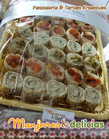 Manjares delicias canapes variados for Canapes y aperitivos