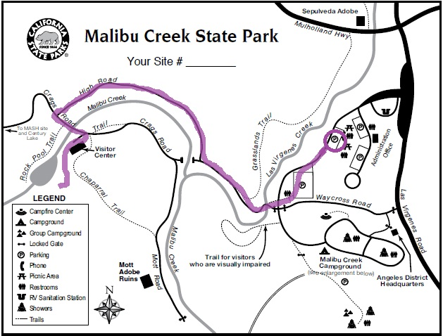 28 Malibu Creek State Park Map: Malibu State Park Map At Usa Maps