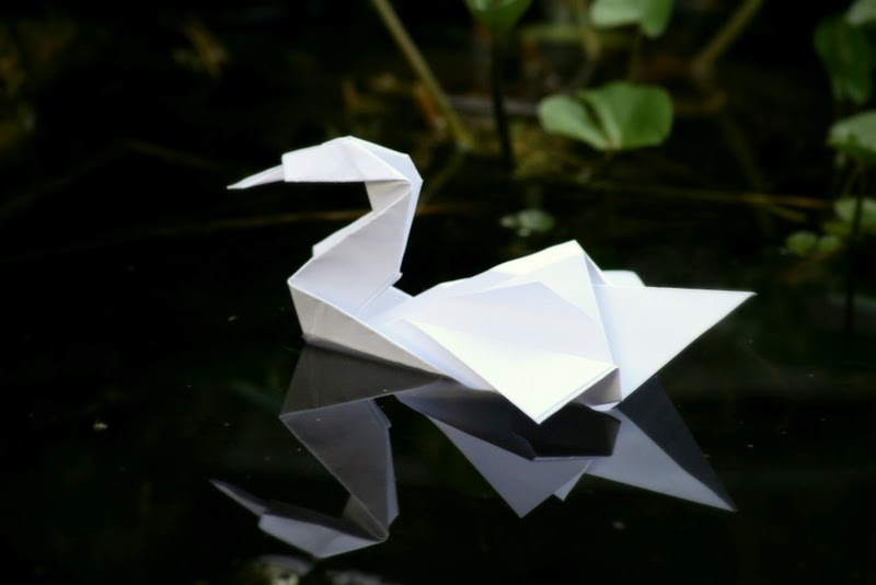origami for kids swan