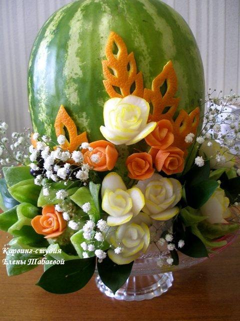 научиться вырезать цветы из овощей карвинг в Южно-Сахалинске