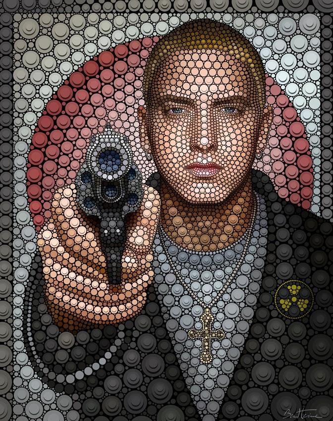 03-Eminem-Ben-Heine-Painting-&-Sculpture-Digital-Circlism-Portraits-www-designstack-co