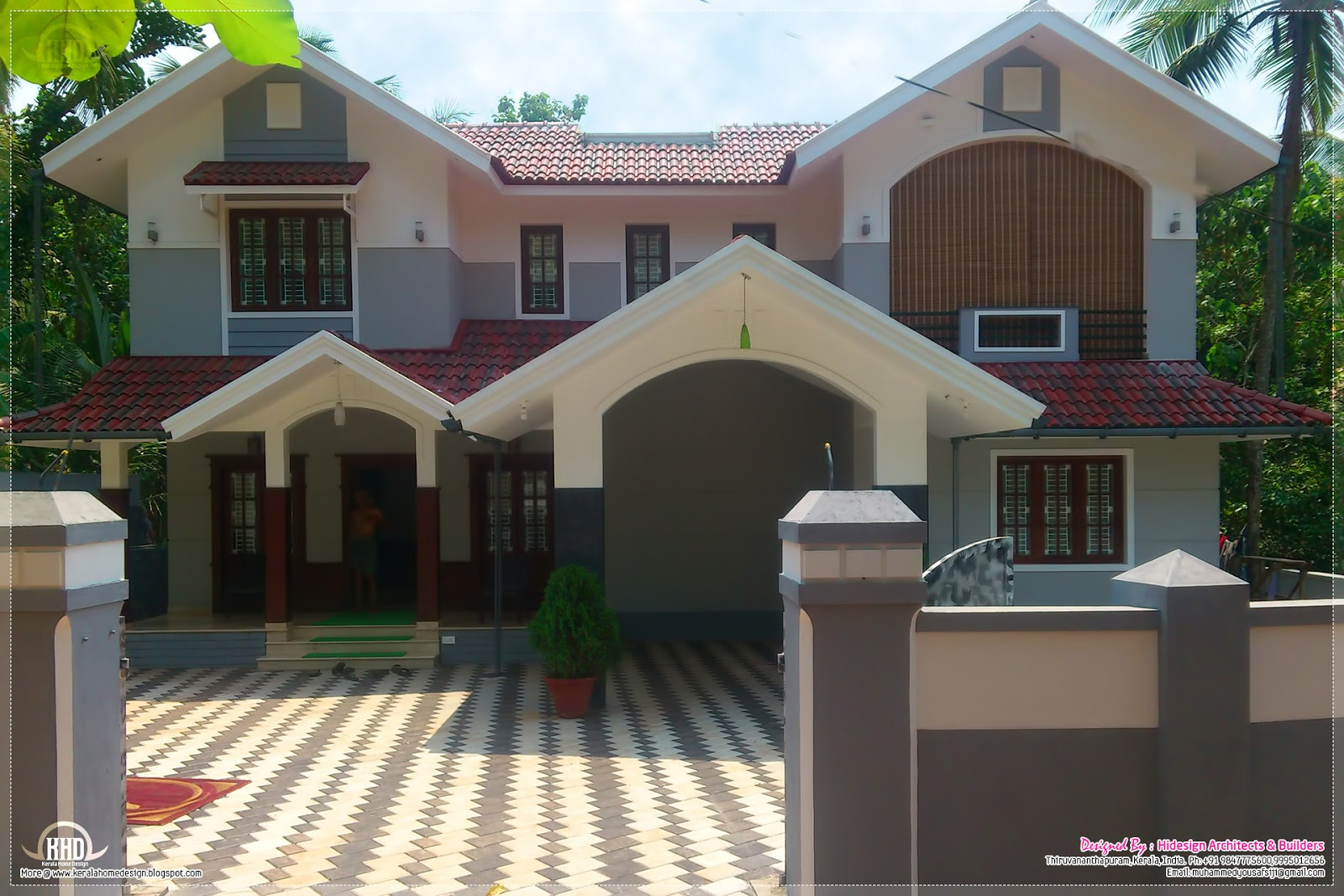 Amazing Home Design 2400 Sq Ft Part - 8: Home In Kerala