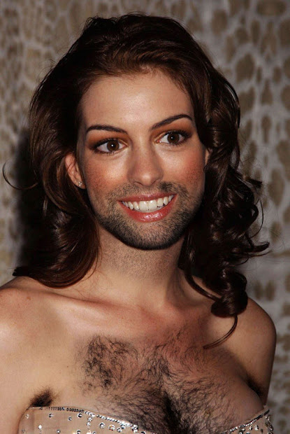 female celebrities with beards
