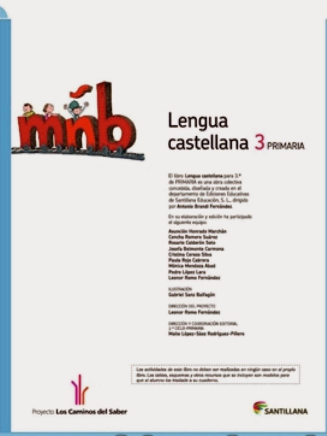 Lenguaje 3º .SANTILLANA DIGITAL