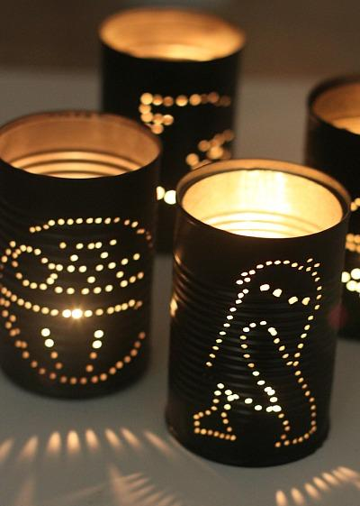 Diy star wars tin can lanterns do it yourself ideas and for Diy star lantern