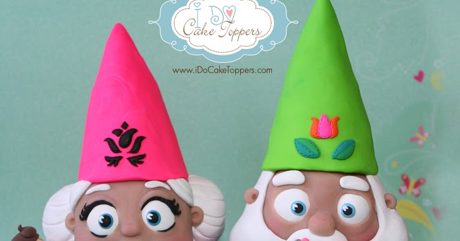 & Mr. and Mrs. Gnome | I Do Cake Toppers