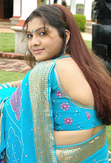 Hot South Indian Actress in Saree Blouse - Celebrities blouse design ideas