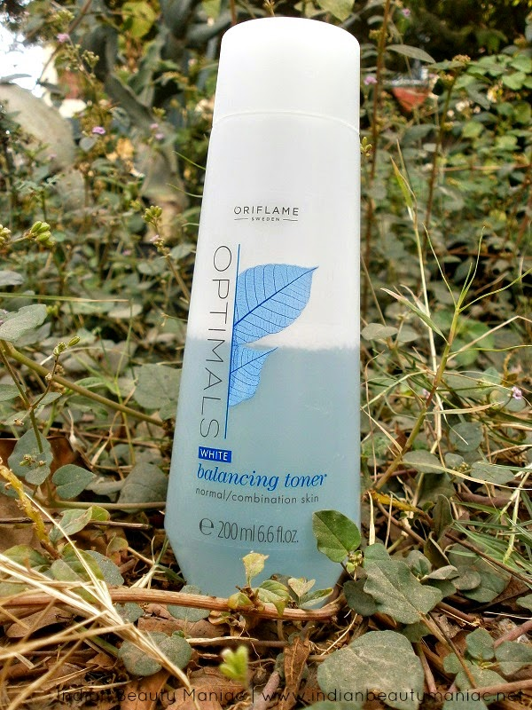 Oriflame Optimals White Balancing Toner Packing, Images, Review and Swatch