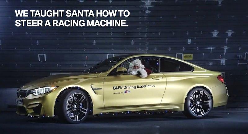 【動画】サンタクロースが「BMW M4」で華麗なドリフト走行を披露!