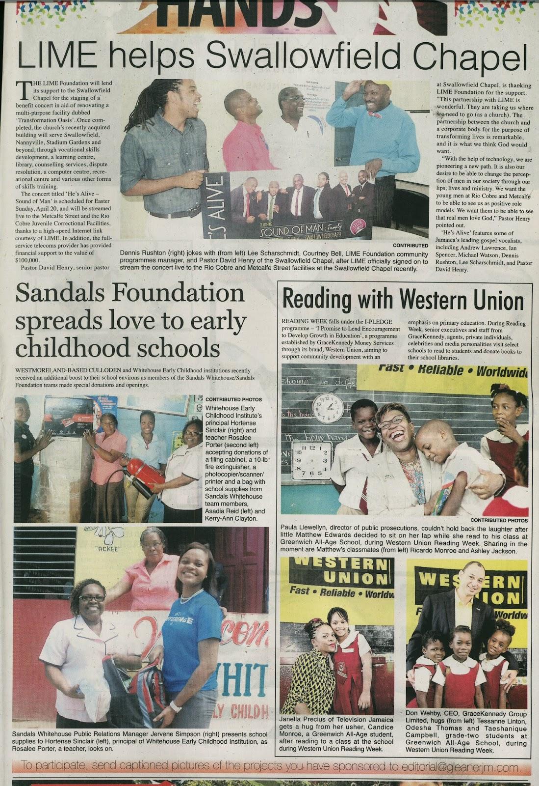 GraceKennedy Western Union Reading Week 2014 | Kimesha's ...