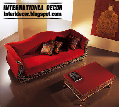 romantic red sofa and red table design