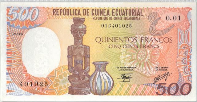 Guinea Equatoriale 500 Francs 1985 P# 20