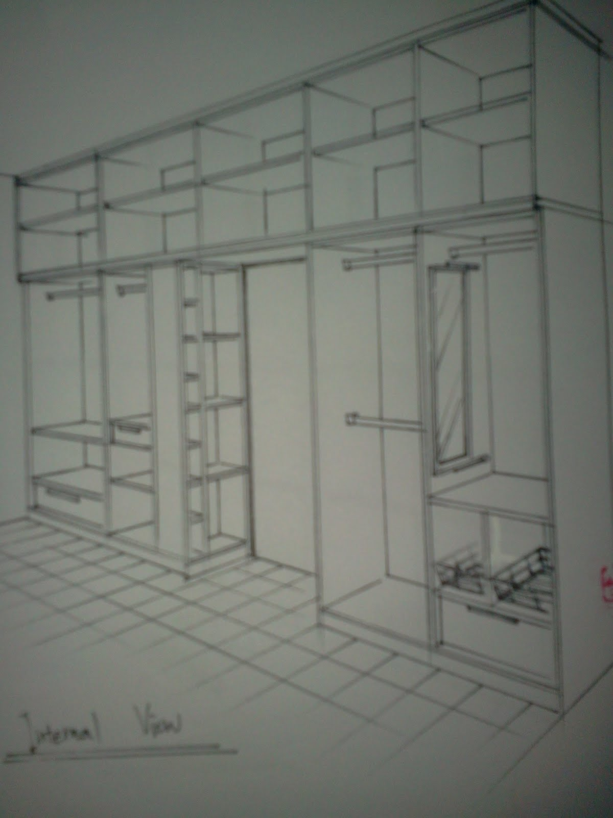 bayu timber hasni furniture concept contoh lakaran wardrobe