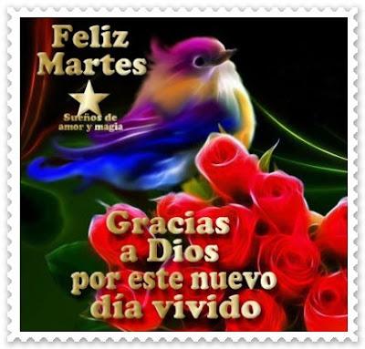 tarjetas de feliz martes para amigas