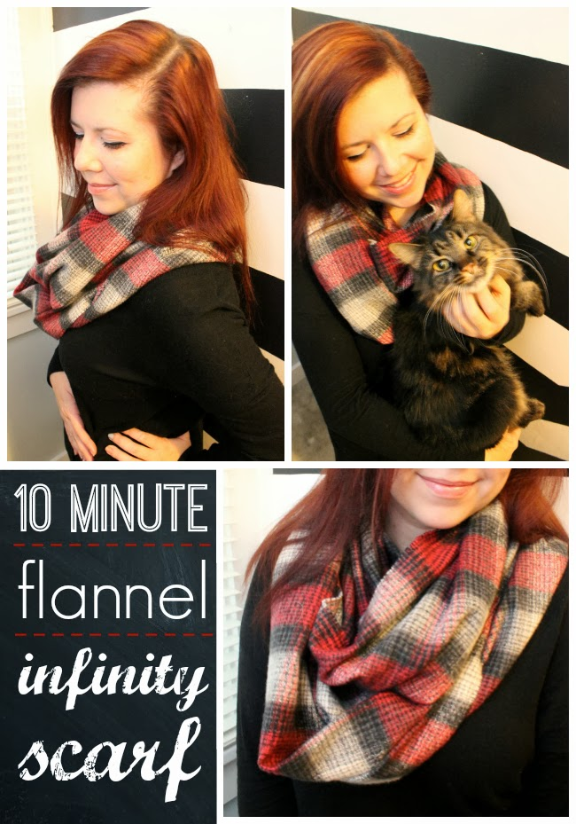 10 Minute Flannel Infinity Scarf