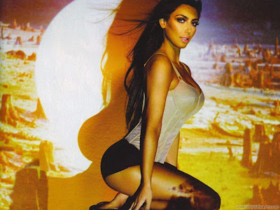 Kim Kardashian Swimsuit Latest HD Wallpaper