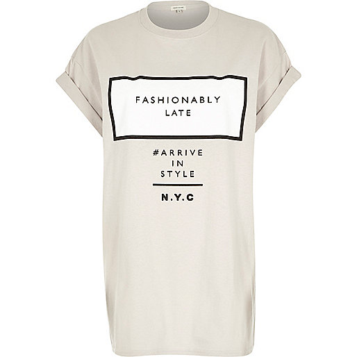 http://www.riverisland.com/women/t-shirts--vests--sweats/print-t-shirts--vests/Grey-fashionably-late-oversized-t-shirt-664864