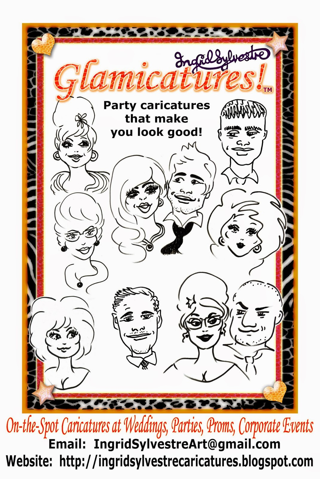 Wedding Entertainment ideas Party Entertainment Christmas Party Entertainment Corporate Events Wedding Caricatures and Silhouettes Ingrid Sylvestre UK caricaturist & silhouette artist North East Newcastle upon Tyne Durham Sunderland Middlesbrough Teesside Northumberland Yorkshire