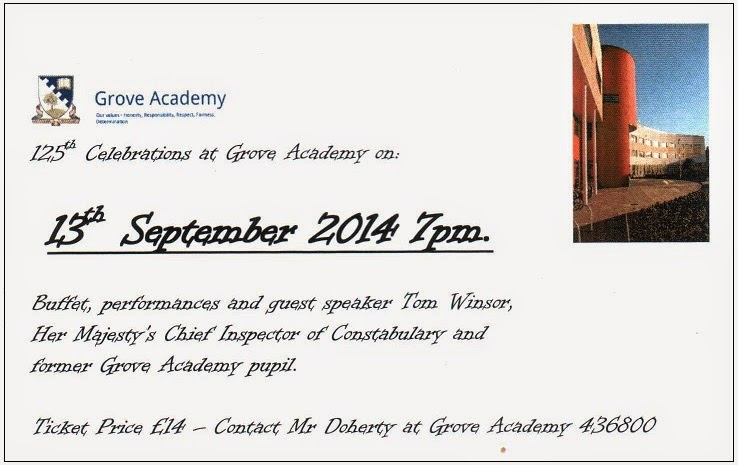 Grove Academy, Broughty Ferry, 125th Anniversary Celebration 13 September 2014