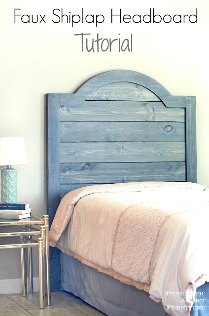 Learn how to build your own shiplap style headboard