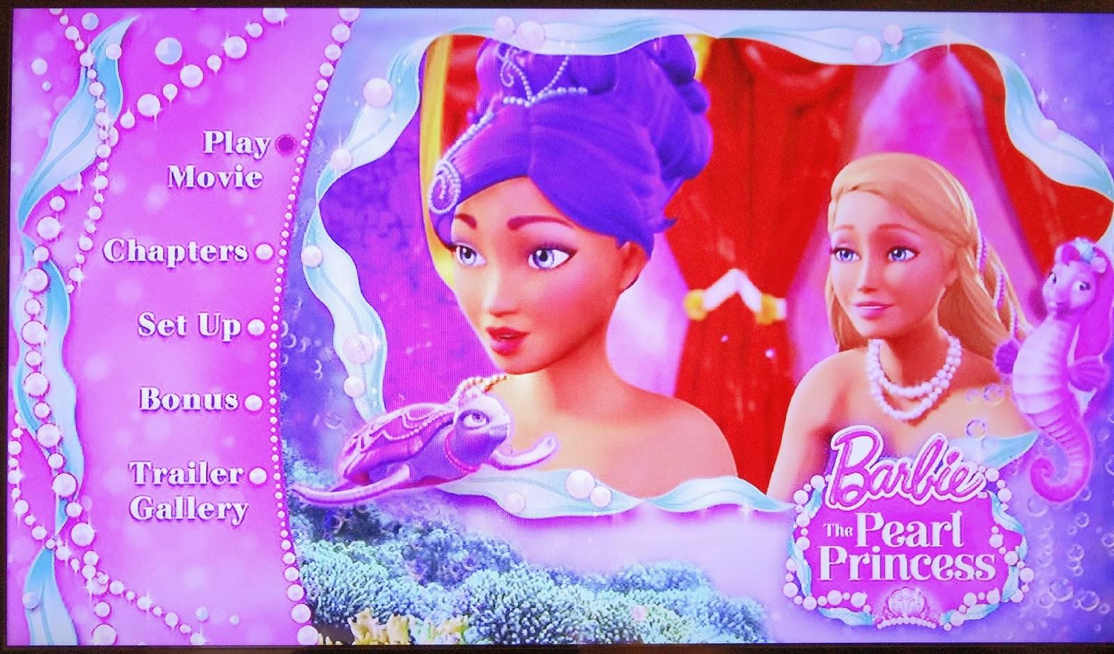 Barbie The Pearl Princess DVD, Half Term animation, Mermaid