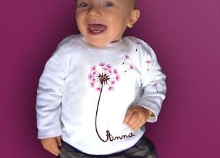 löwenzahn mit Name Longsleeve Shirt Baby
