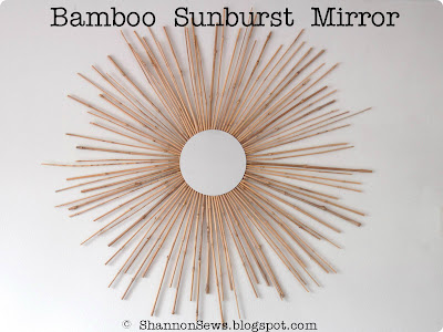make your own sunburst mirror with bamboo