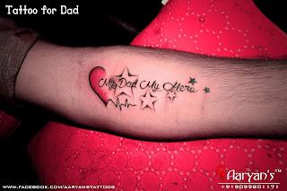 Mom dad tattoos for Dad i love you tattoo