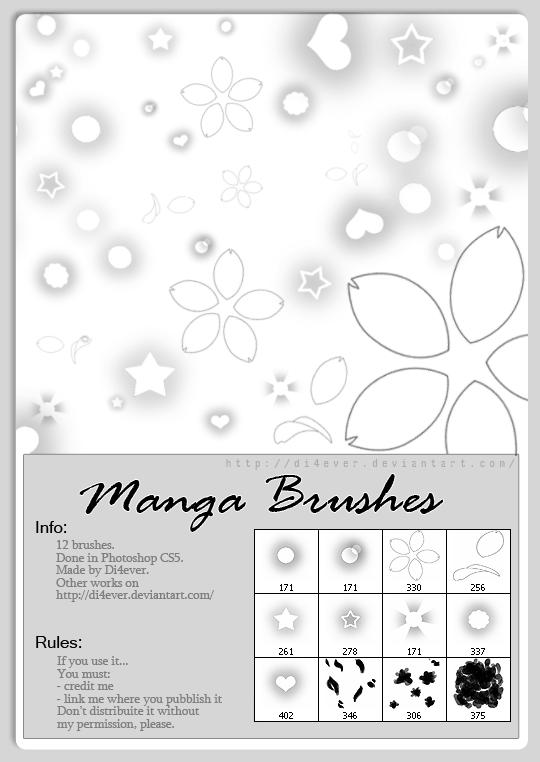 http://missdidichan.deviantart.com/art/Manga-Brushes-212220213