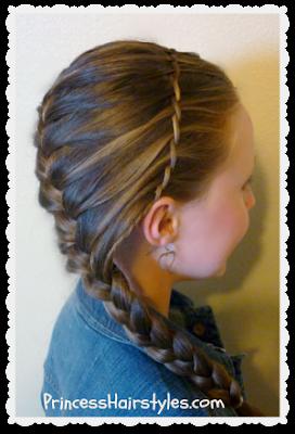 Waterfall Twist Braid Headband And French Braid princesshairstyles.com