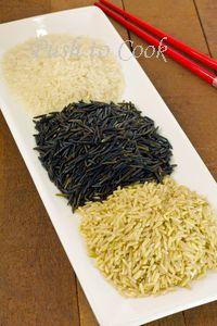 Дикий рис, нешлифованный рис, белый рис