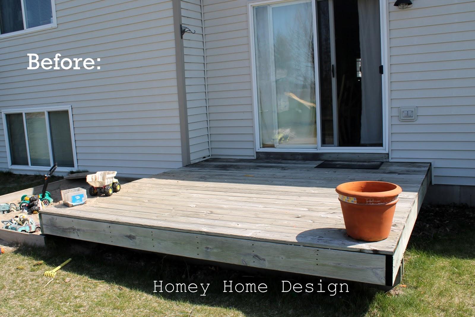 homey home design: Deck Redo Part One
