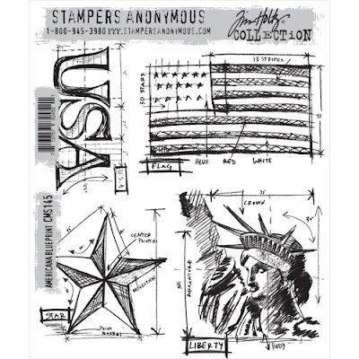 One lucky day americana blueprint i stamped the star onto a 4 x 4 piece of watercolor paper using black archival ink then colored the star with fired brick the word with faded jeans and malvernweather Choice Image