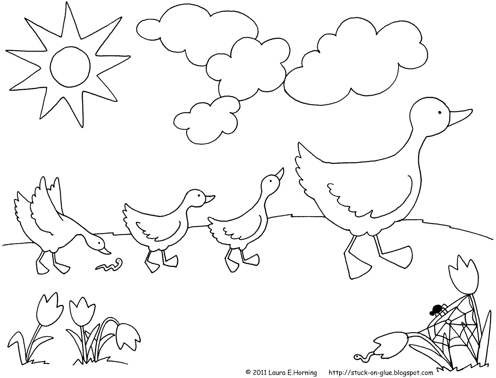give your octopus a paintbrush or 8 printable ducks in a row