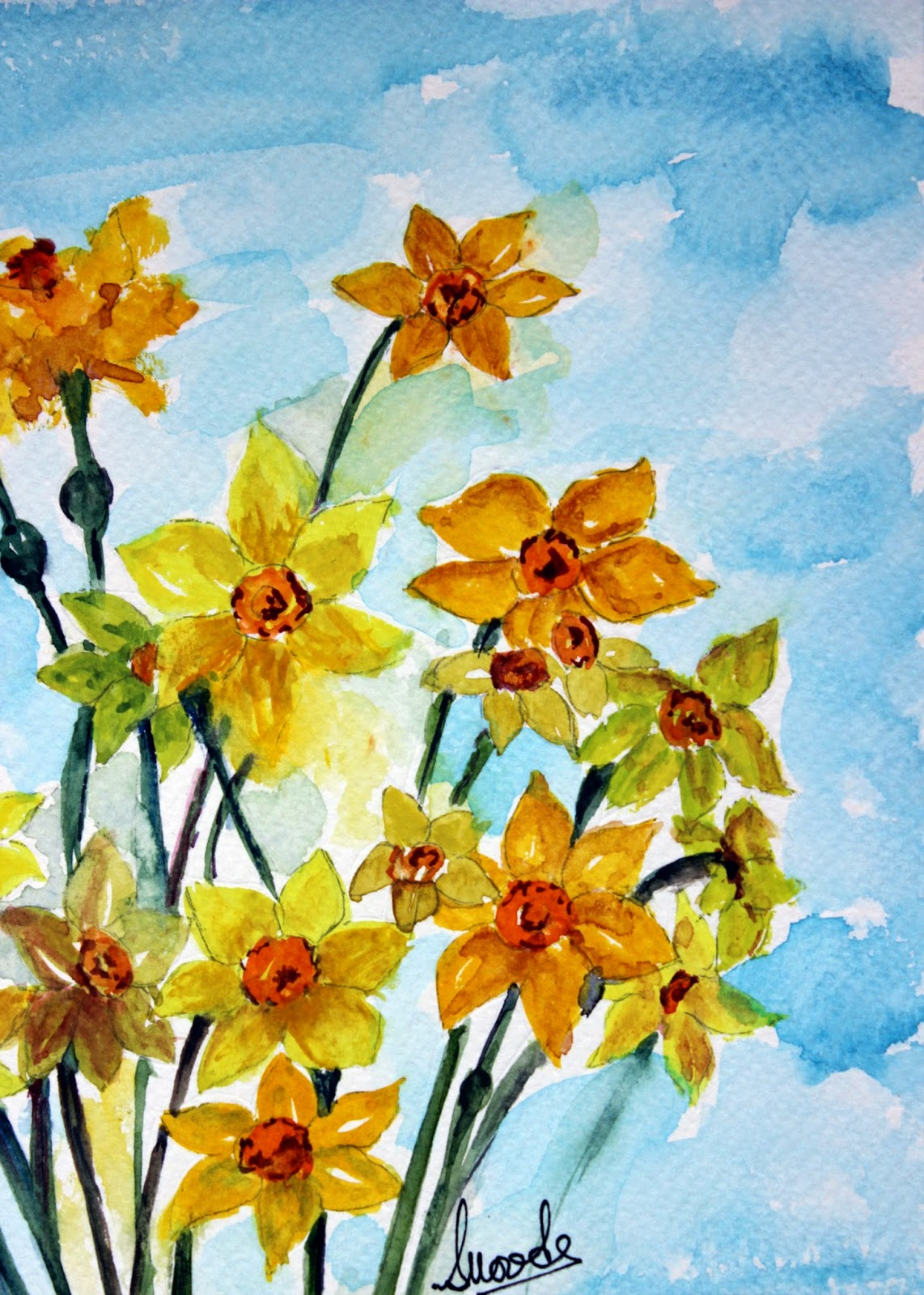 daffodil daffodils yellow flowers floral blooms narcissus bunch bouquet