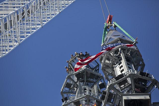 Steel spire of 1WTC