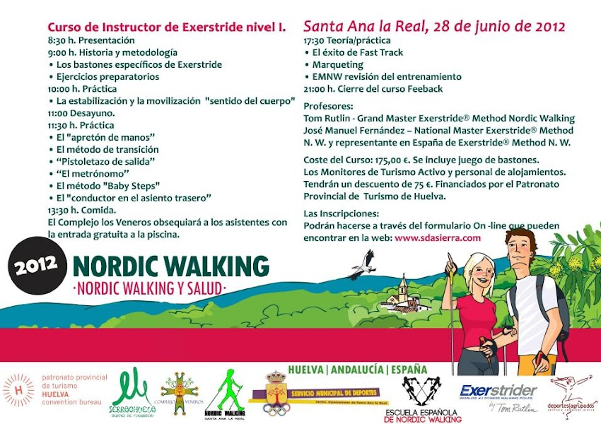 CURSO DE NIVEL 1 NORDIC WALKING - TÉCNICA EXERSTRIDER