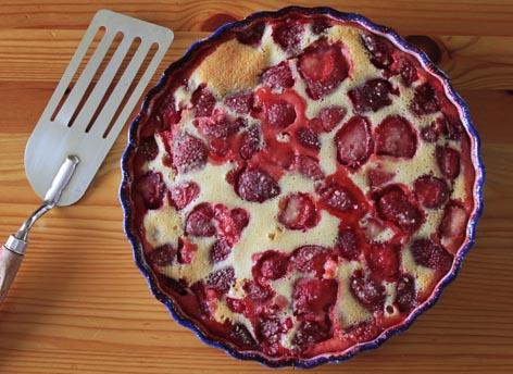 Clafoutis moelleux aux fraises