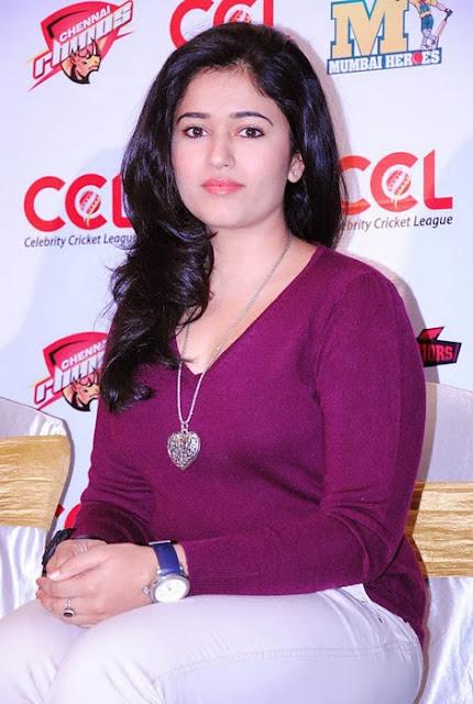Poonam Bajwa In Purple Dress