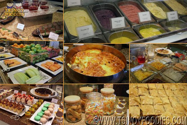 market cafe buffet dessert stations