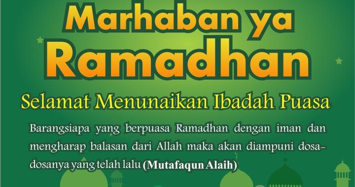 Duniaku Sihat Mengucapkan Selamat Menjalani Ibadah Puasa Kepada Semua Pembaca Muslimin Muslimat.